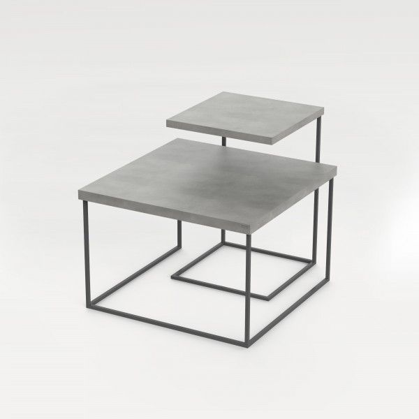 tabula duplex | Concrete and Steel Nesting Tables