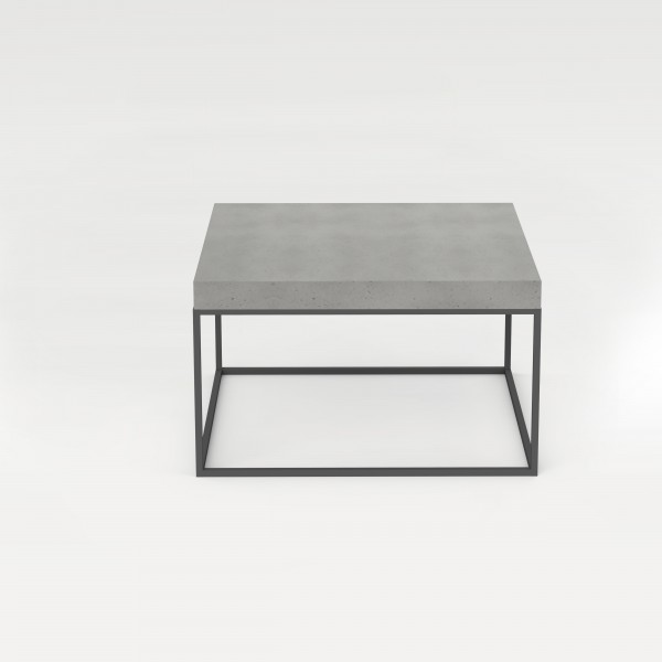 tabula cubicolo | Table with steel frame and overlaying concrete plate