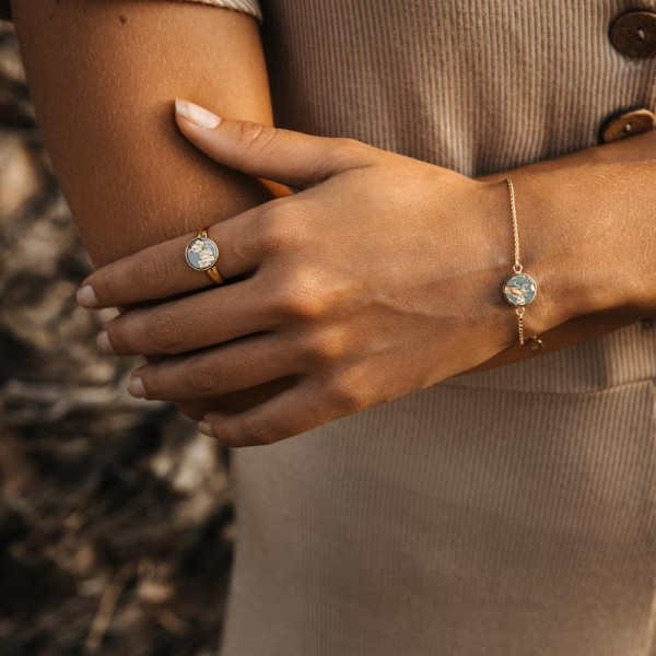 Armband LIA Grey Gold | by Concrete Jungle