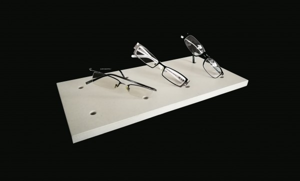 Concrete eyeglasses or sunglasses display