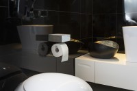 BALNEOS Toilet Roll Holder made of real concrete in Bauhaus Design